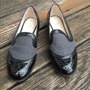 Studio Paolo Patent Faux Leather Loafers 8 Slip On